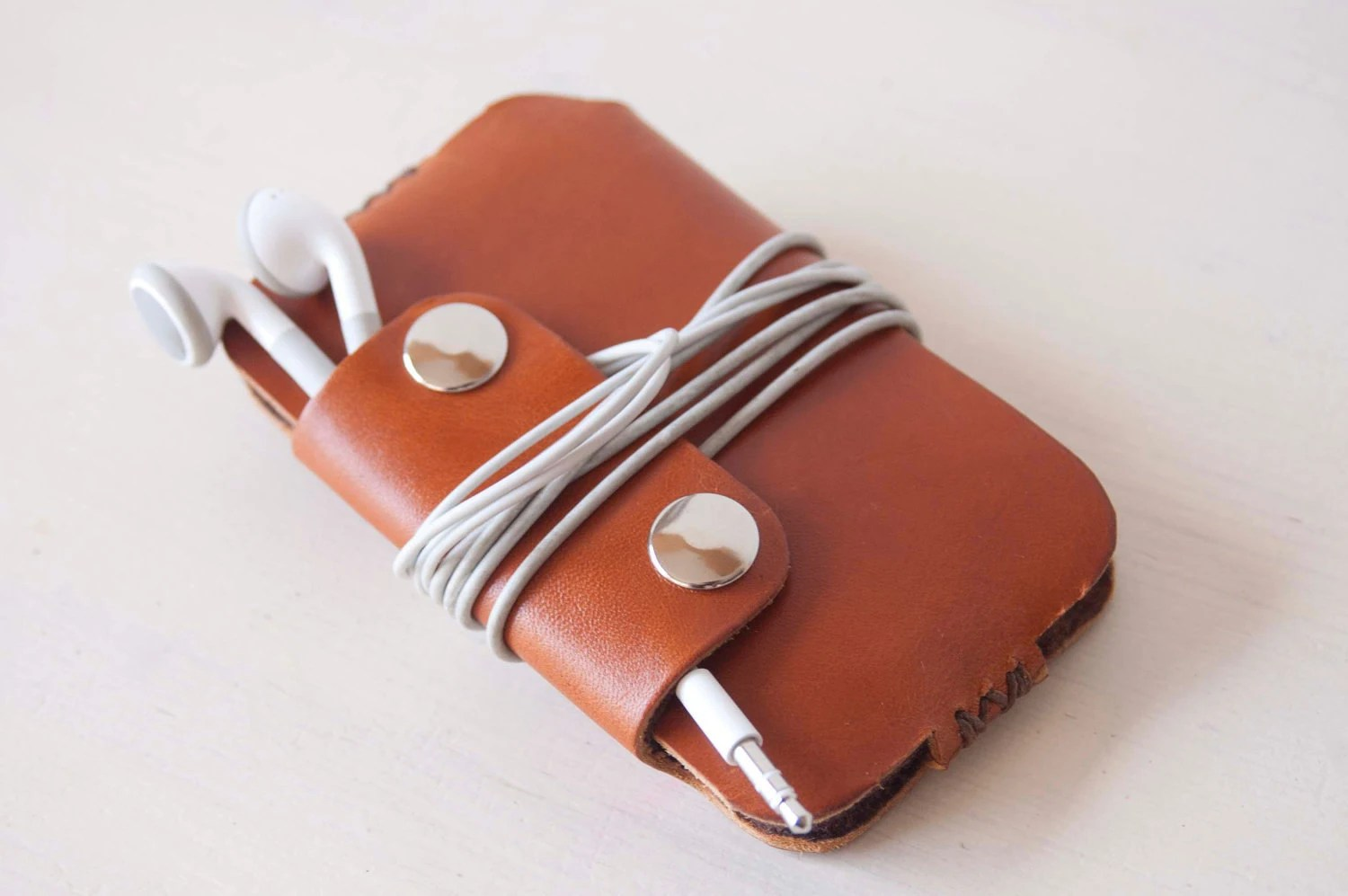 IPhone 5 case, IPhone 5 sleeve, IPod Touch case, IPhone 3 case, IPhone 4 case, IPhone 4S case - Brown leather sleeve - santileather
