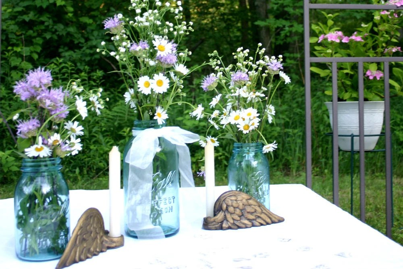 Antique azul bola perfeita frascos de pedreiro - One 2 Quart e dois 1-Quart - Casamentos e decoração para casa