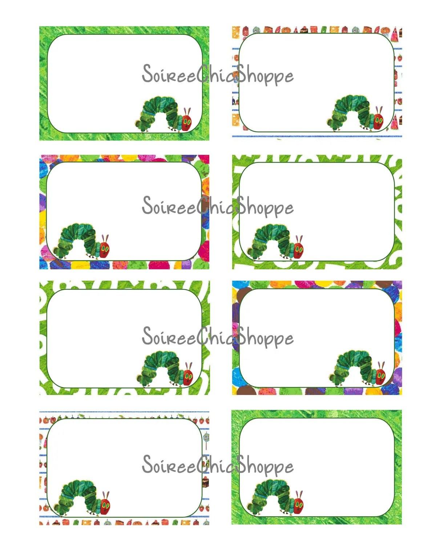 Custom Printable Hungry Caterpillar Birthday By Soireechicshoppe