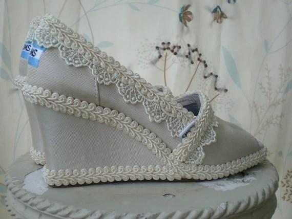 Custom Wedding TOMS..... Wedge design