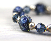Blue OOAK Rustic Graduation Gift  TAGT Sterling Silver Bracelet:  A Day in Denali National Park - Thebracelettree