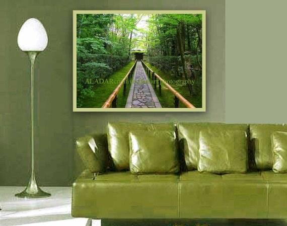 Items Similar To Modern Art Wall Decor Feng Shui Green