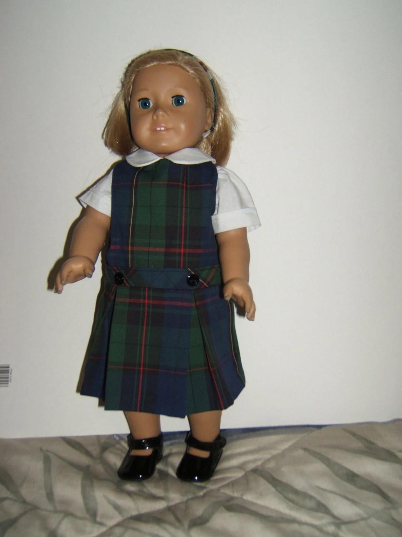 18 Inch Doll School Uniform Jumper Plaid 81