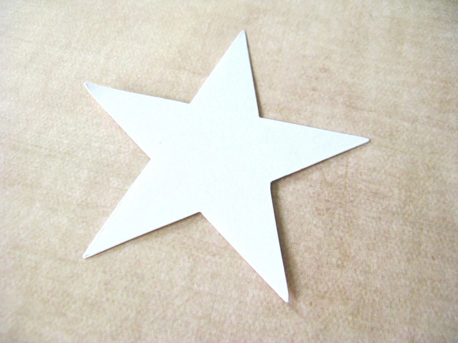 24 Large White Stars, 3 Inch, Scrapbooking, Embellishments - CatchSomeRaes