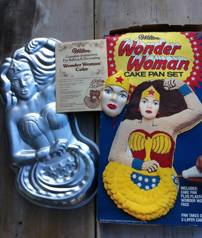 Cake Pan Wonder Woman Dc Comics Birthday Party