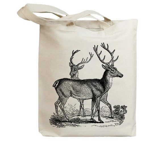 Retro Deers Vintage Eco Friendly Canvas Tote Bag (idb0013) - idiopix