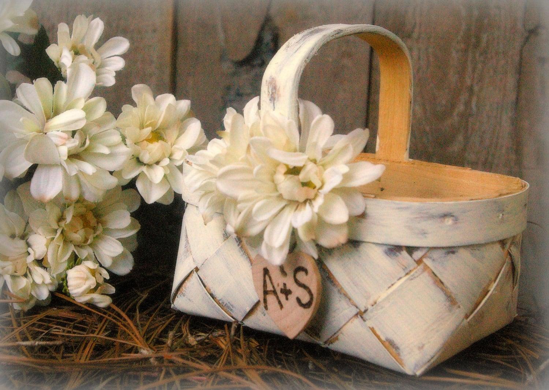 Flower Girl Basket Rustic Wedding Decor By MinSvenskaLandgard