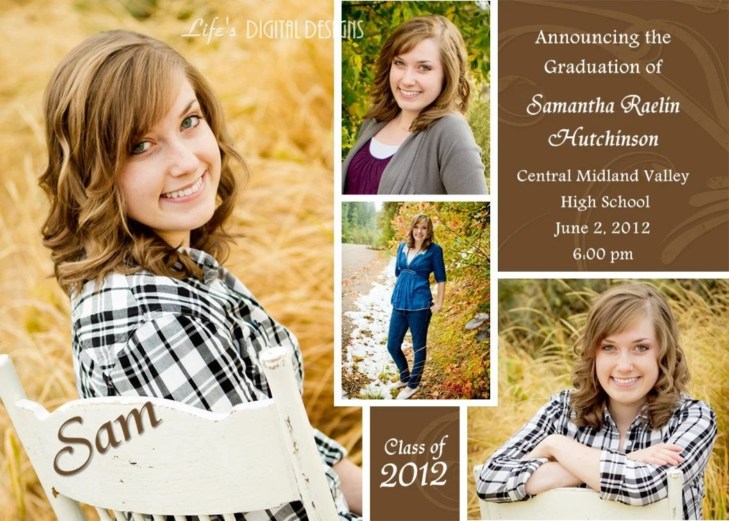 Graduation Announcements Multiple Photo And Background Options