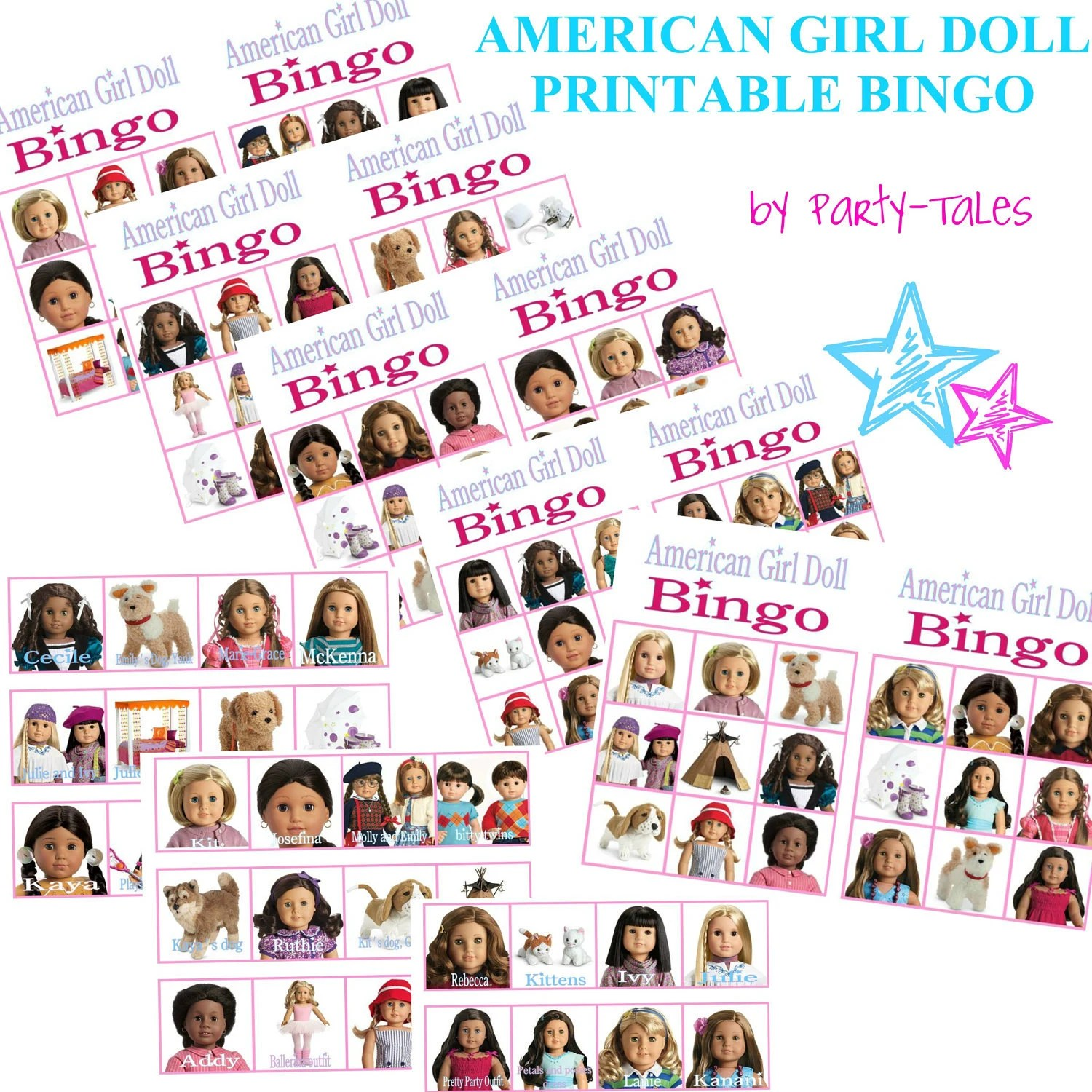 Instant Download American Girl Doll Printable Birthday Party