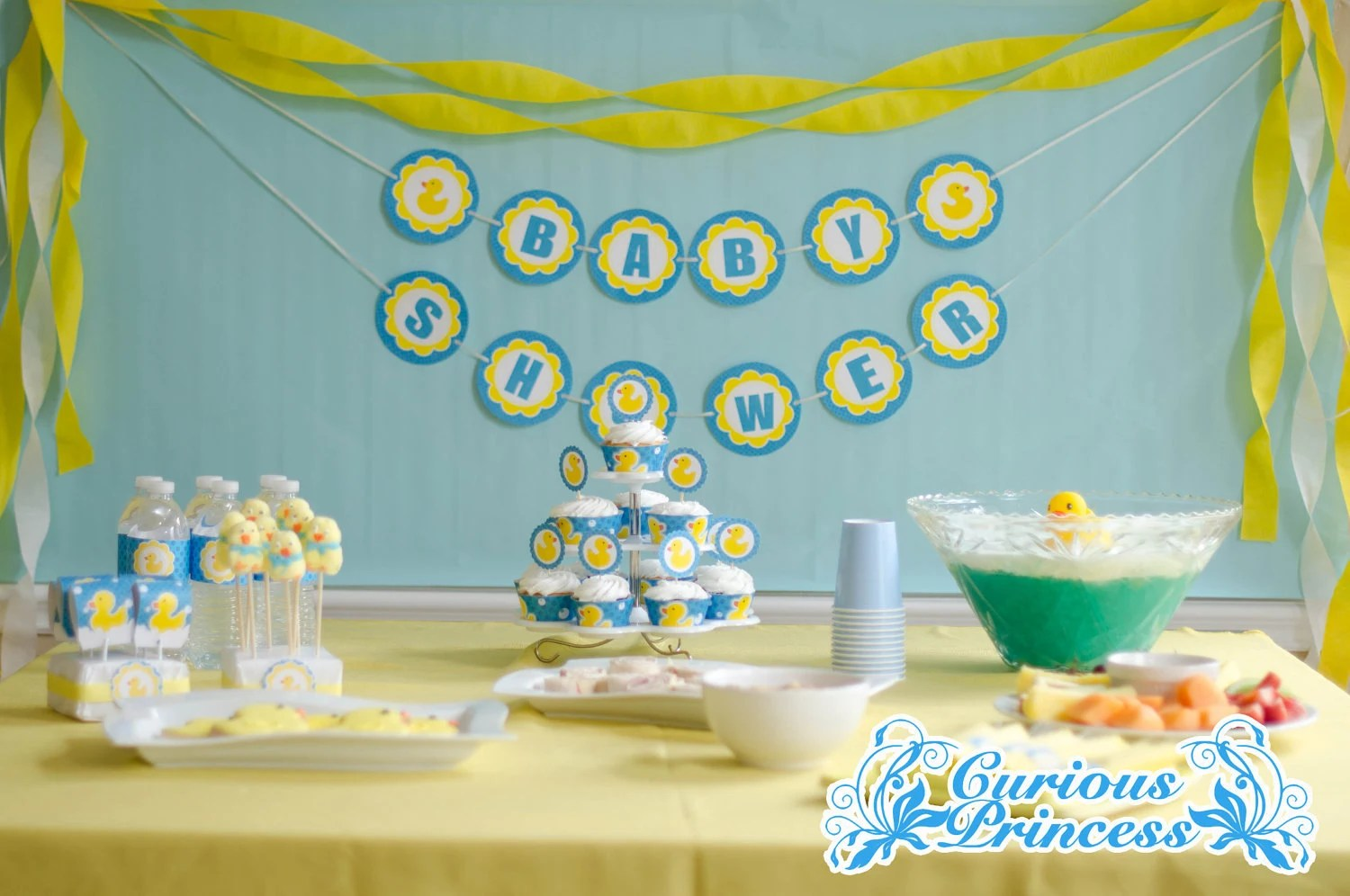 Rubber Ducky Baby Shower Kit Printable By Curiousprincess