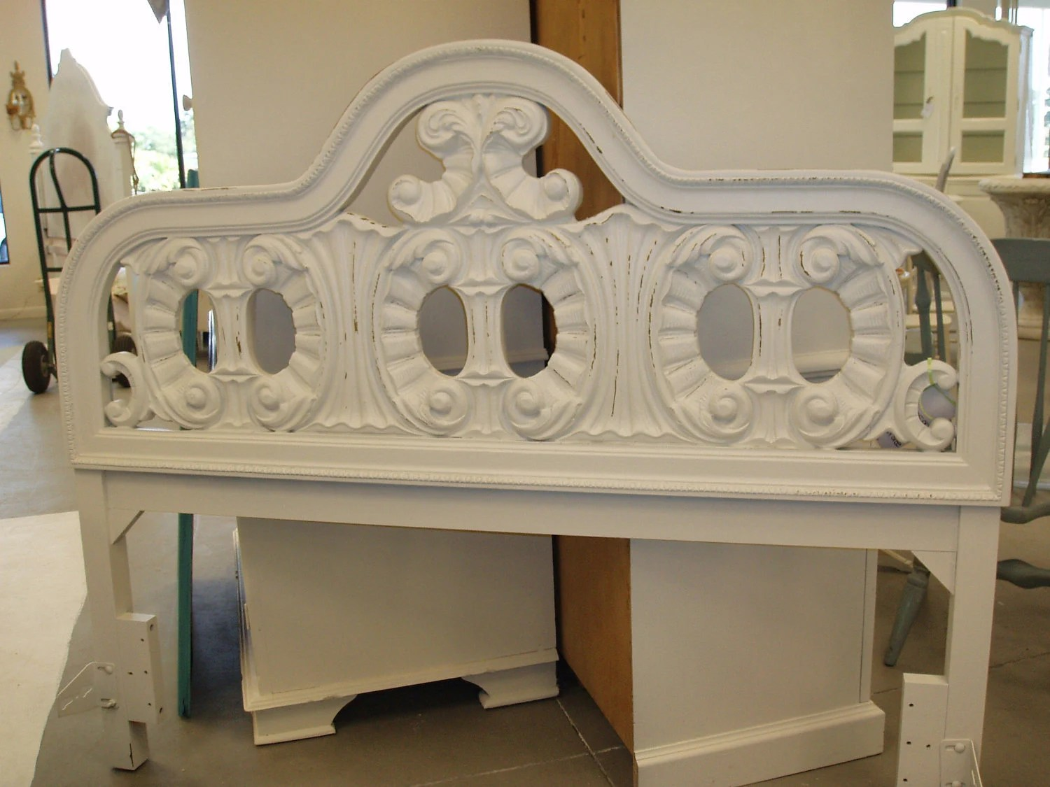 Shabby Chic Queen Headboard FREE SHIPPING By KenryAndCompany