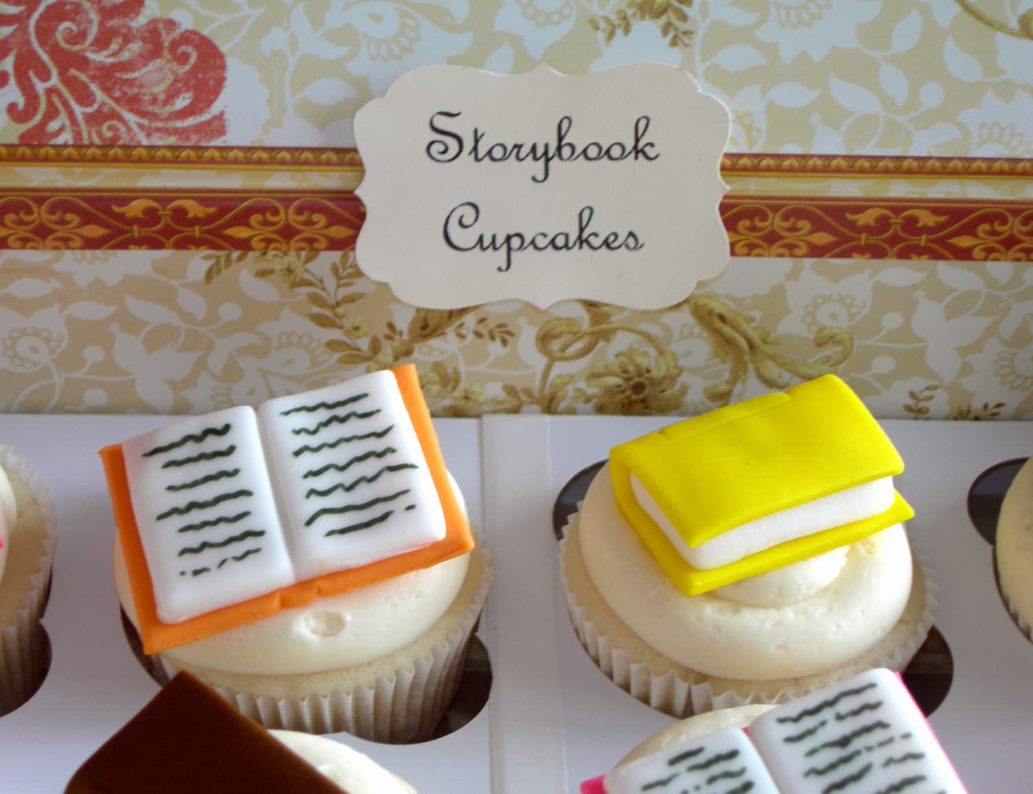 Mini Storybook Cupcake Toppers 1 Dozen By Sweetenyourday