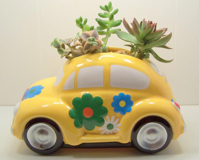 Plantador kit DIY Love Bug Só Fusca
