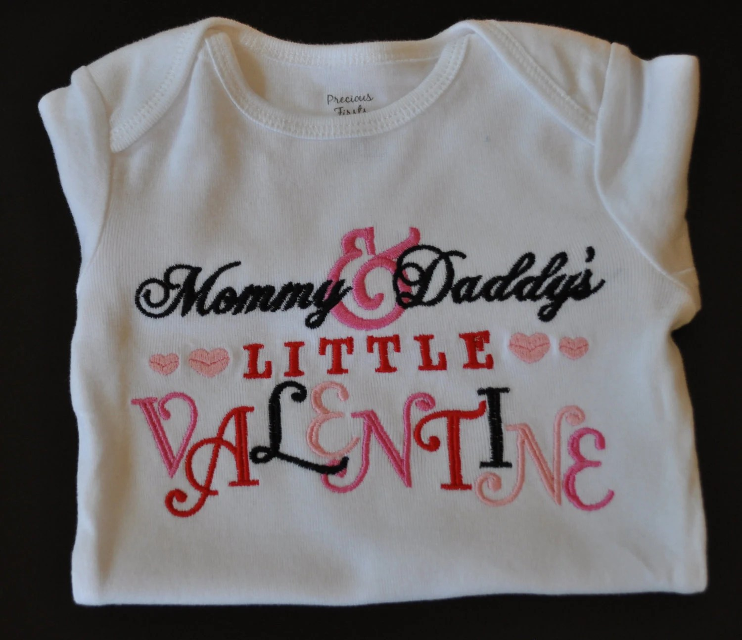 Embroidered Valentine Day Shirt For Kids Mommy And