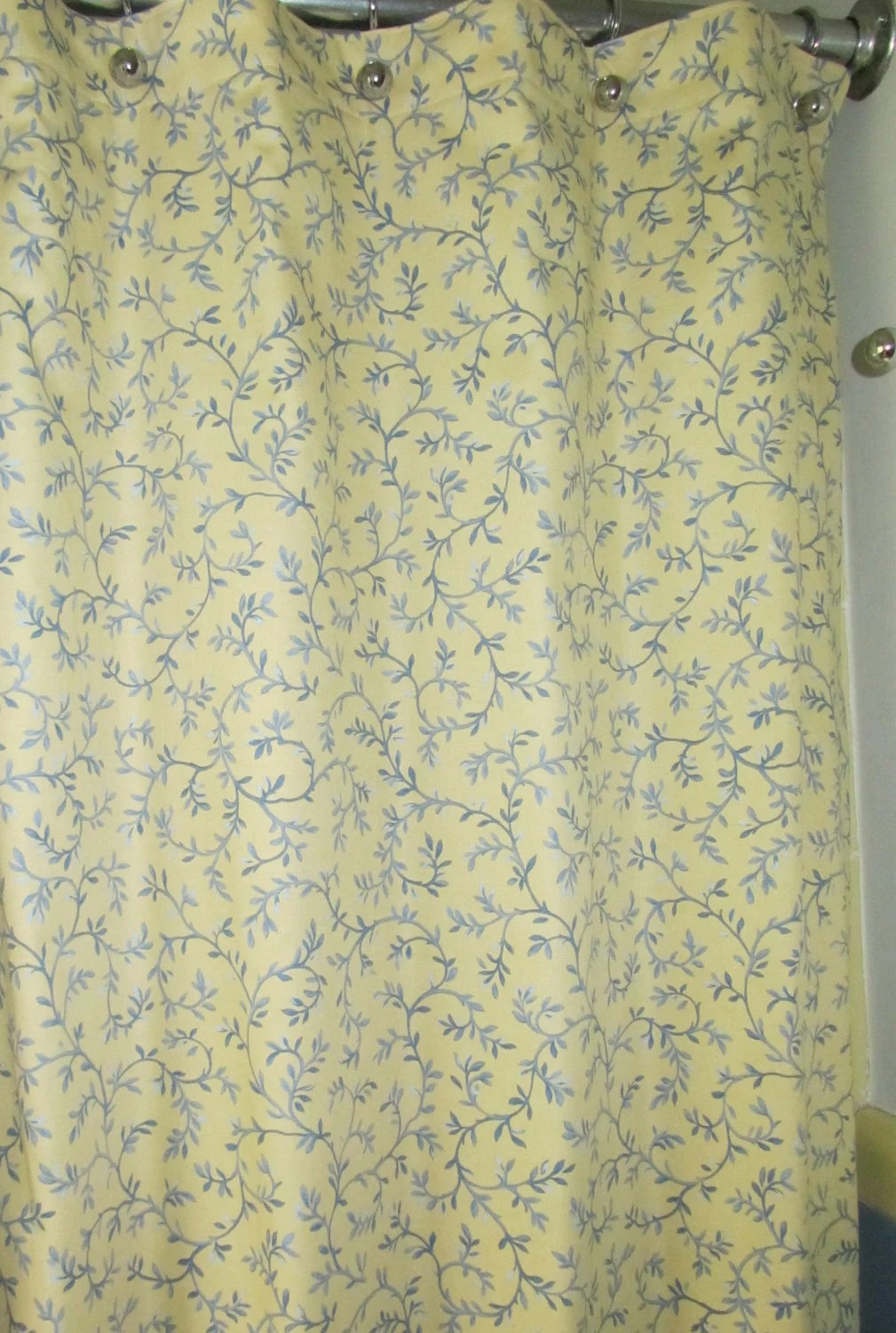 Yellow And Blue Shower Curtain To Match Your Mid Century Ranch