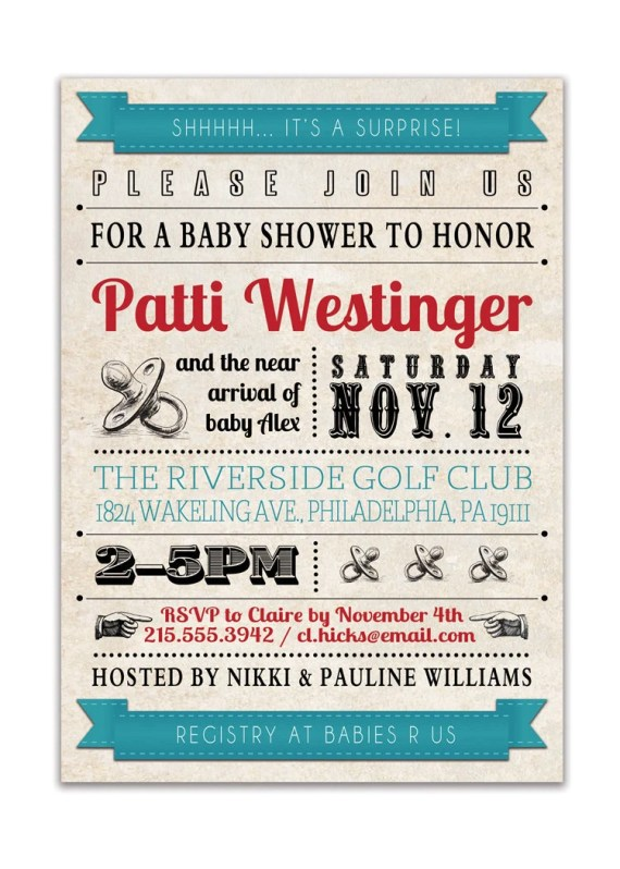 Steam punk baby shower