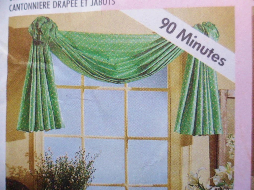 Sewing Pattern Curtains Swags Mccalls Home Dec By