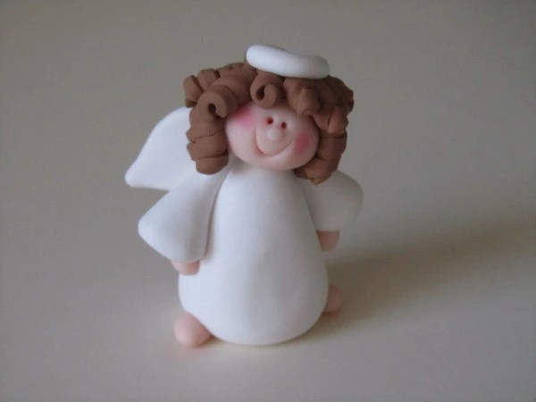 Whimsical Polymer Clay Angel Figure