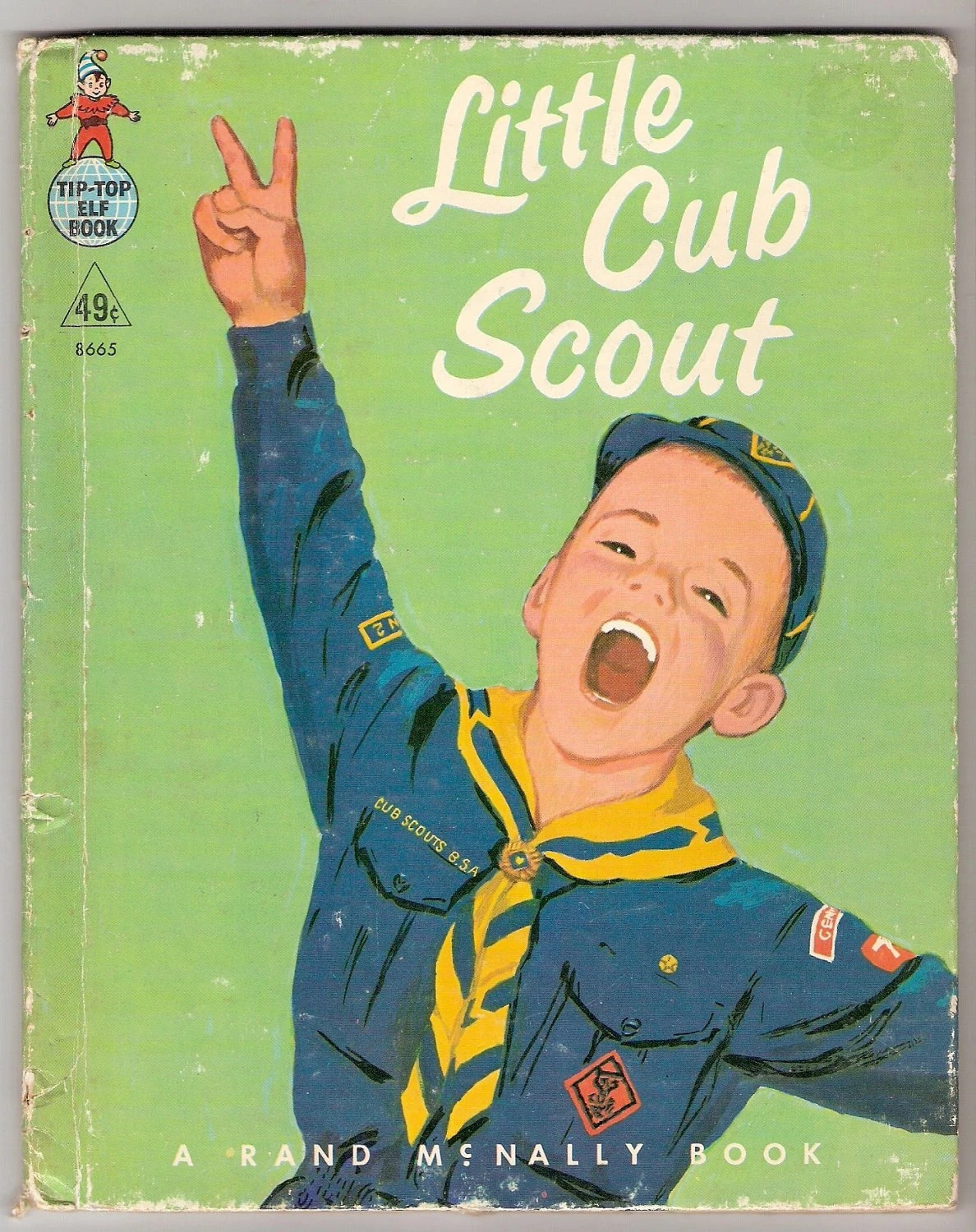 LITTLE CUB SCOUT Vintage Rand McNally Tip Top Elf Book