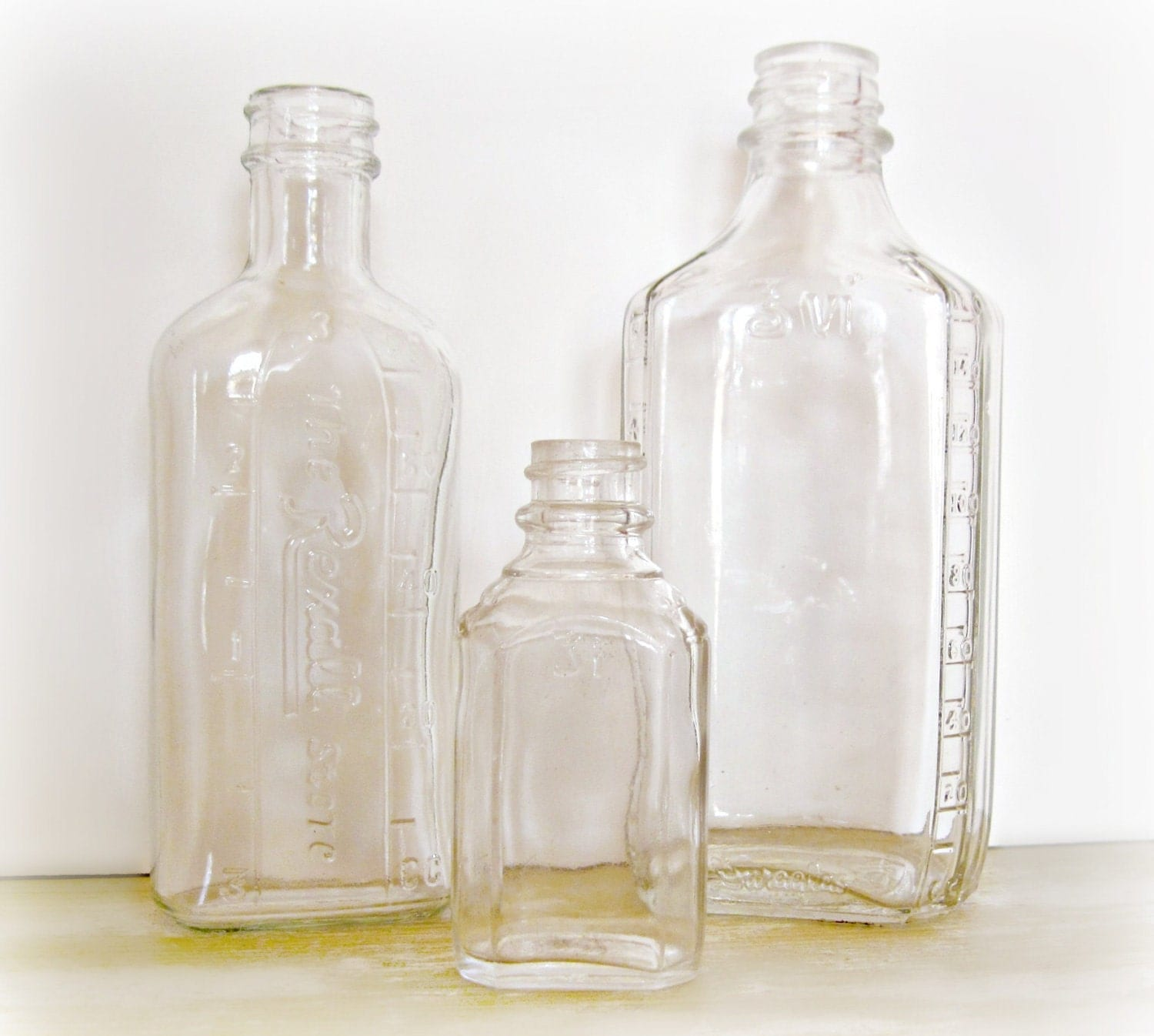 Antique Glass Medicine Bottles Embossed By ReclaimedGrace On Etsy