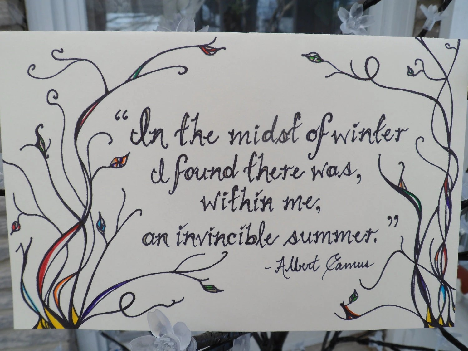 "Greeting Card- ""An Invincible Summer"" - TheHeightofLife"