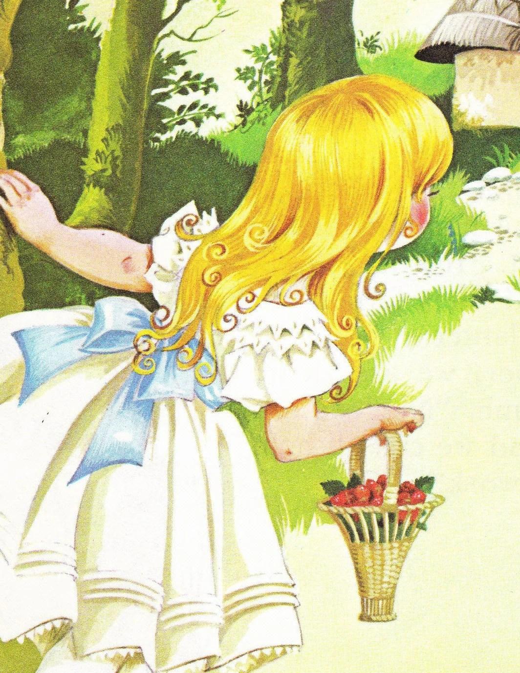 Goldilocks And The Three Bears Vintage Illustration