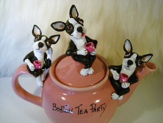 Boston Terrier Tea Party Valentines Day Pet Lovers Dog