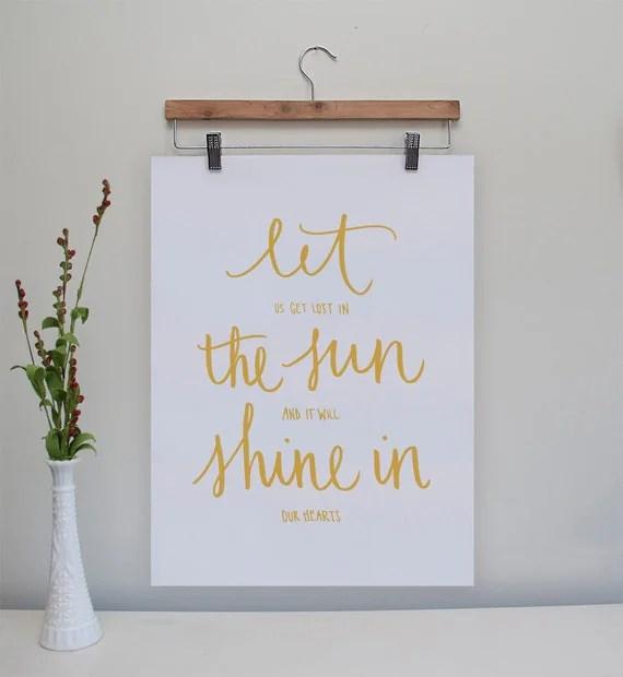 Let the Sun Shine In Original Print // 8x10
