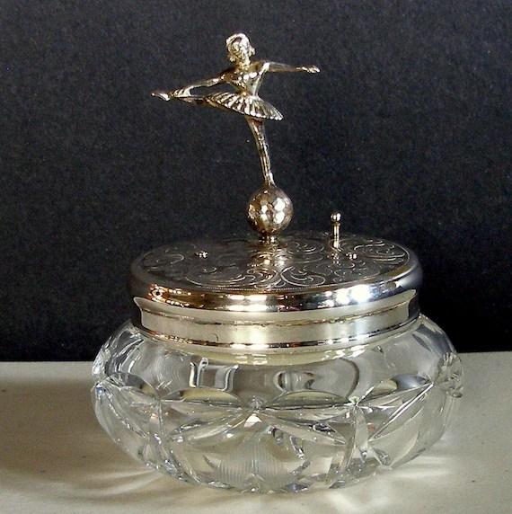 Vintage REUGE BALLERINA Music Box Dresser Jewelry Powder