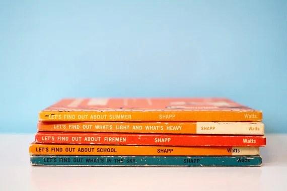 """Vintage Children's Book Set, """"Let's Find Out"""" Book Series - LuLuVintageFinds"""