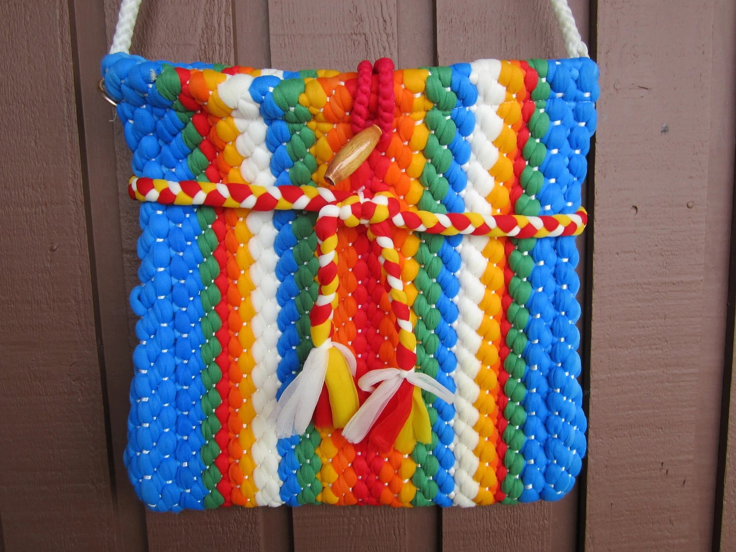Rainbow Vintage Purse on Etsy
