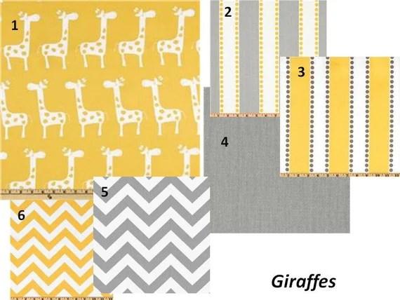 Items Similar To Baby Boy Crib Bedding Giraffes Yellow And