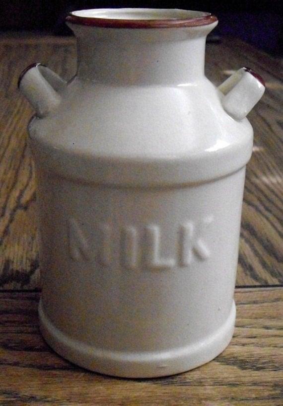 Vintage Milk Can Farm Pottery