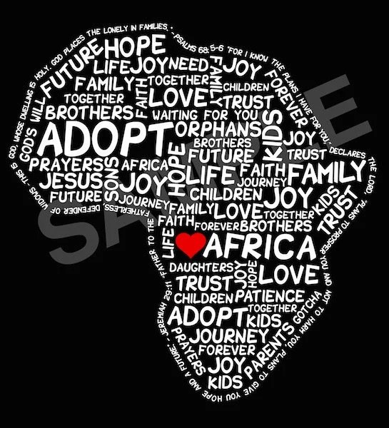 Adopt Africa Shirt - ADULT MEDIUM
