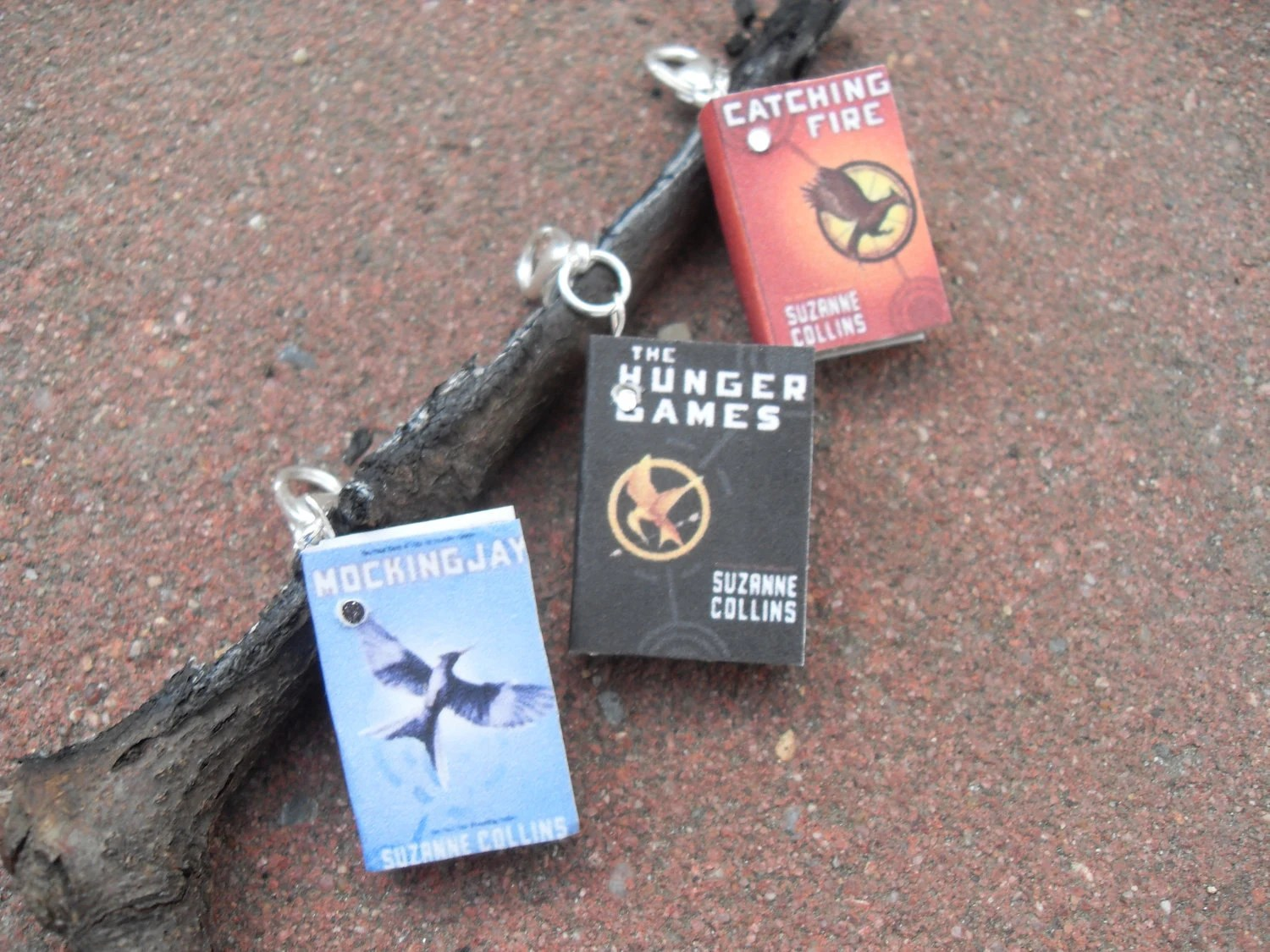 Miniature Book Charms - Hunger Games - 3 books