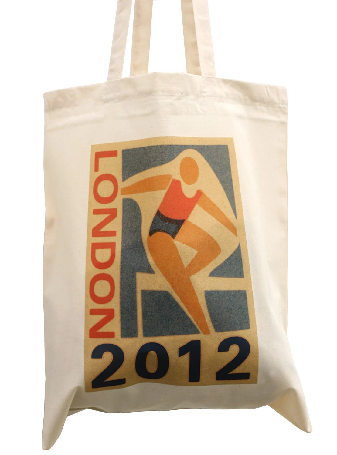 London 2012 cotton tote bag, hurdles athlete