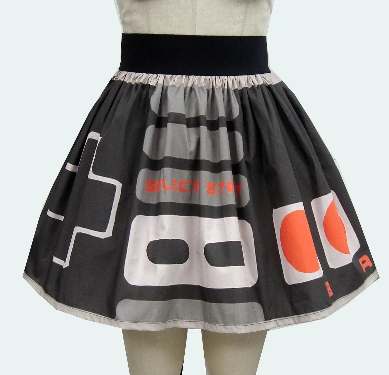 Retro Video Game Controller Full Skirt