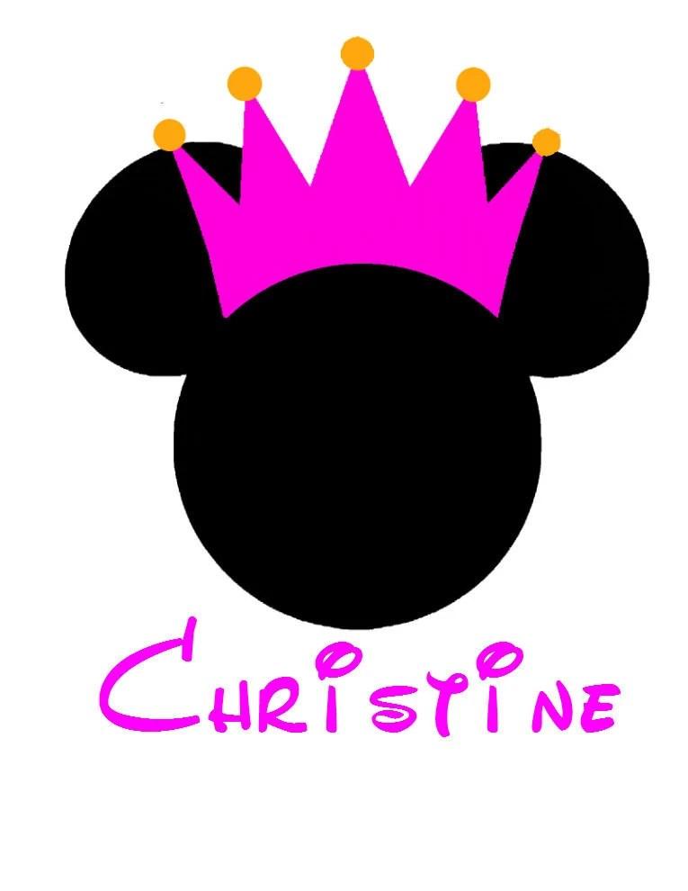 Minnie Princess Crown Personalized Custom Iron On Transfer