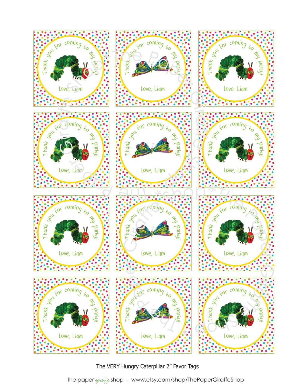 Custom Printable Rainbow Dots The Very Hungry Caterpillar