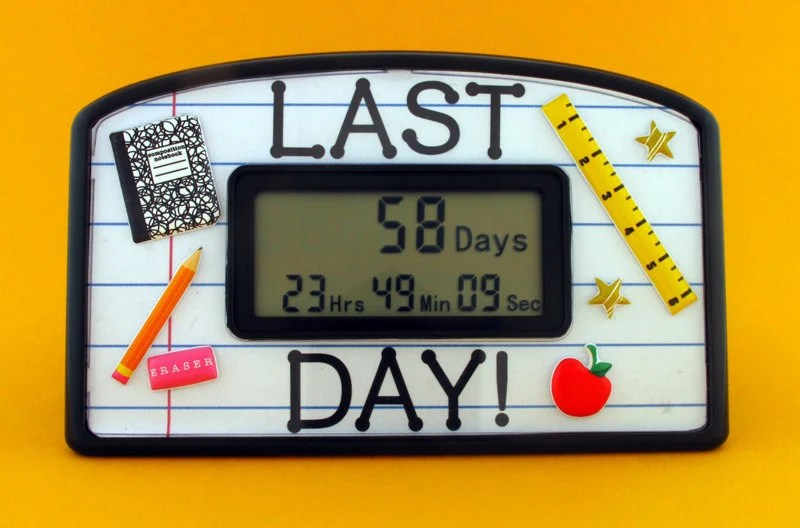 Last Day of School Countdown Clock - TimelyGifts