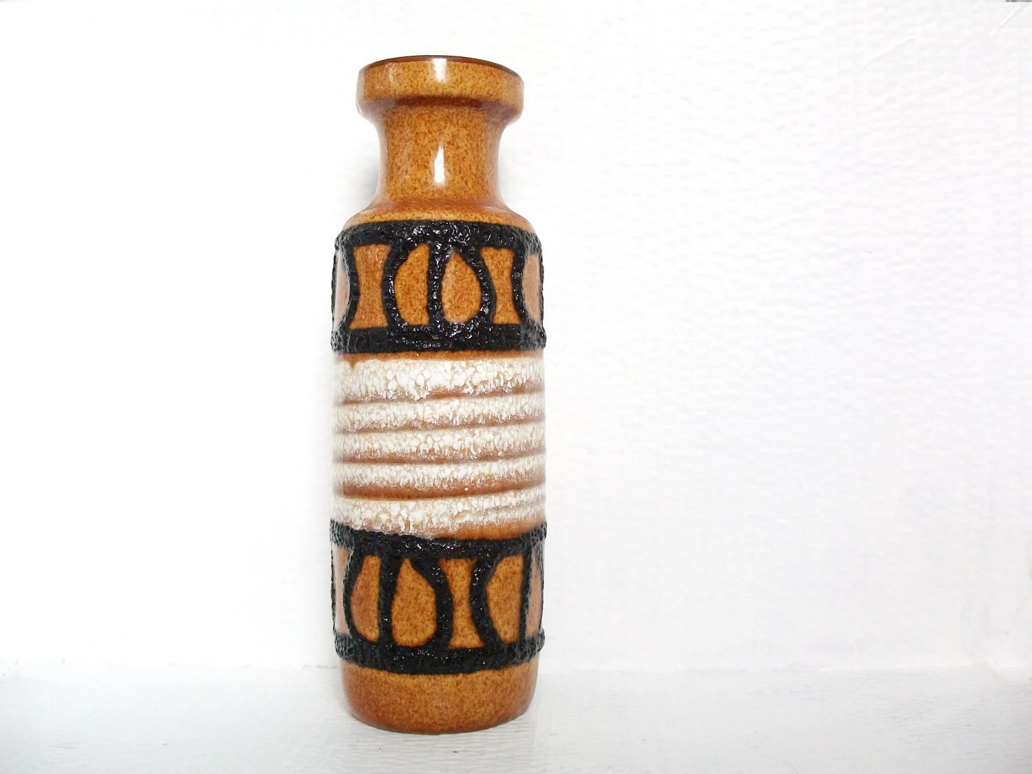 West German Pottery Vase Fat Lava Vintage Scheurich Keramik Retro Home Decor - Podooshki