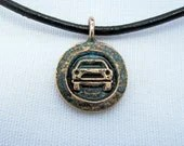 Car Charm in corroded teal - CharmsandSigns