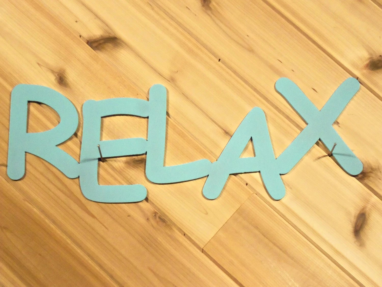 Items Similar To Metal Wall Words Metal Wall Art Relax By