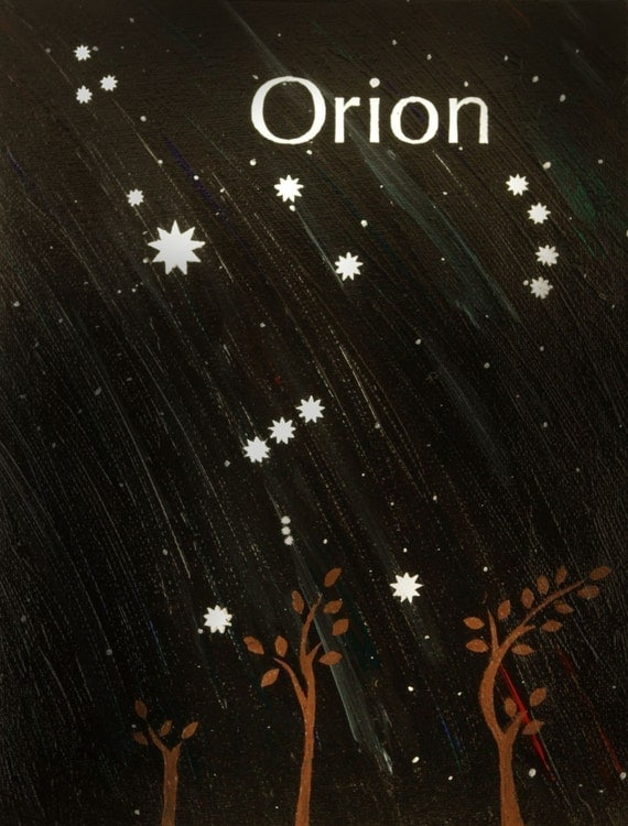 Items similar to Orion - Constellation Postcard Print on Etsy
