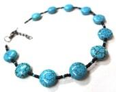 Turquoise Anklet - MegansBeadedDesigns