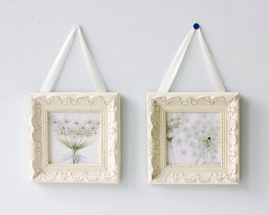 Framed Queen Anne's Lace Photographs, Floral  Wall Decor, Soft Focus Shabby Chic Fine Art Prints, White Flowers - JudyStalus