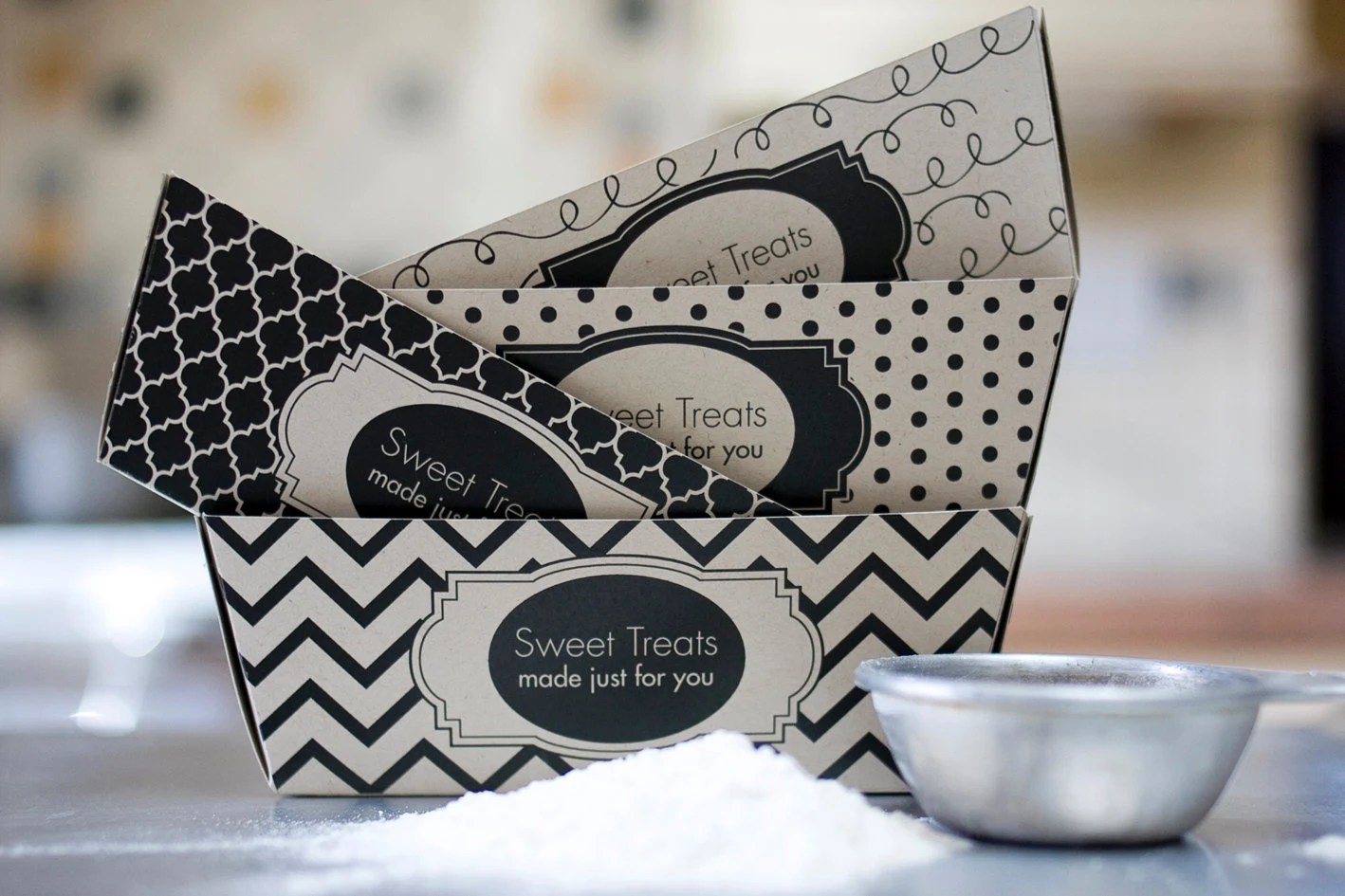 Black And White Baking Tags