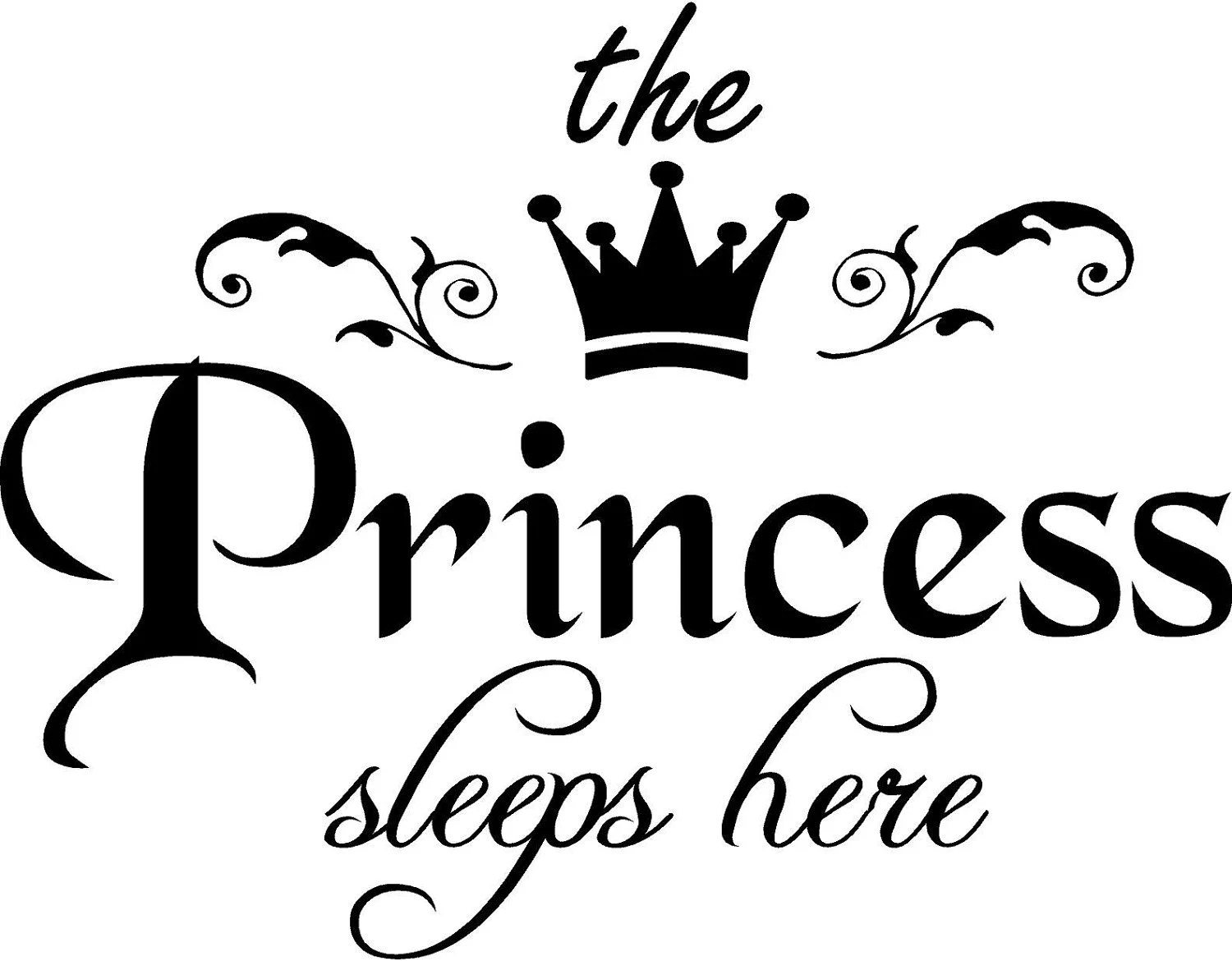 Vinyl Quote The Princess Sleeps Here With By Vinylforall