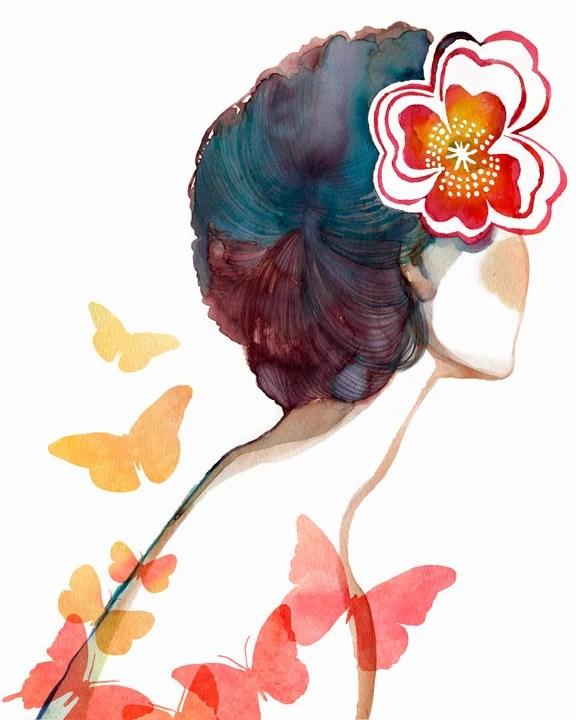 5x7 PRINT/ Wish we were butterflies