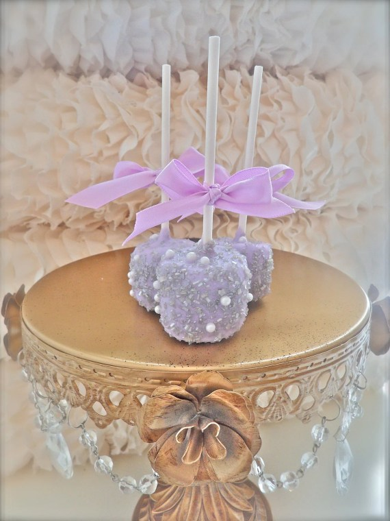 Edible Wedding Favors Silver and purple Chocolate Dipped marshmallows Frost The Cake - FrosttheCake